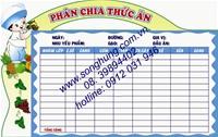 BẢNG PHÂN CHIA THỨC ĂN (BK-05)